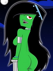 Shego getting brutally poked by Tim Possibles cock